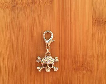 Pirate zipper charm, Pirate zipper pull, Pirate keychain
