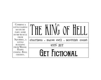 The King of Hell {Crowley . Supernatural Soy Candle}