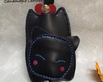 Leather Key Case / Key Bag (Cat)
