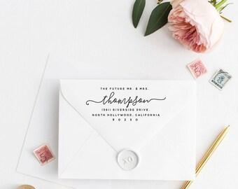 Custom Return Address Stamp, Self Ink Return Address Stamp, Personalized Address Stamp, Calligraphy Address Stamp Return Address Stamp No45
