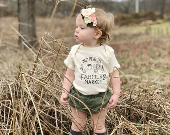 Meet Me At The Farmer's Market, Organic Cotton, Custom, Baby, Toddler