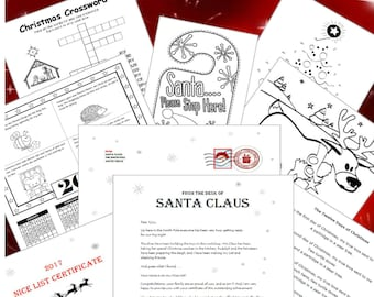 Letters from Santa Instant Download with FREE Activity Pack
