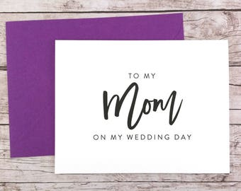 To My Mom On My Wedding Day Card, Mom Card, Wedding Day Card, Mother of the Bride, Mother of the Bride Gift  - (FPS0017)