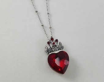 Alice in Wonderland Queen of Hearts, Queen Jewelry, Alice in Wonderland Jewelry, Evil Queen Necklace