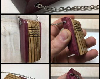Awesome-exotic wood-Stash box-hidden compartment-pill box necklace