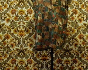 Ethnic printed short sleeve shirt
