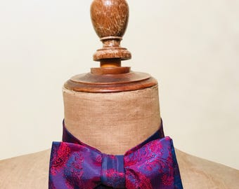 Silk Purple Bow Tie