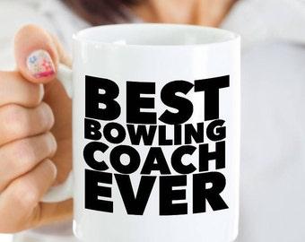 Bowling Coach Gift - Bowling Coach Mug - Best Bowling Coach Ever Coffee Mug Ceramic Cup