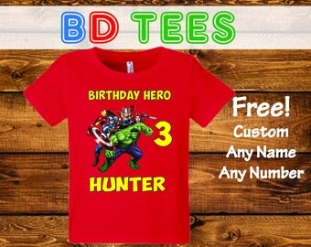 Sale! Avengers Birthday Shirt