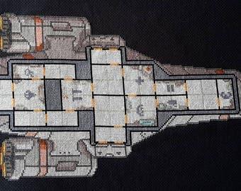 FTL Kestrel Cruiser cross stitch pattern