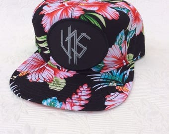 UNS Black oval patch,Hawaiian style cap