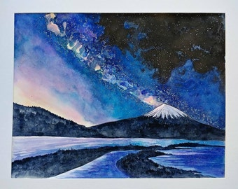 Mt bachelor, original painting