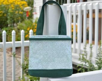 Mint Birds Forest Green Mini Ita Bag
