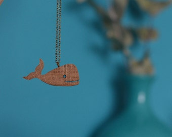 Pendant Whalie oak (whale necklace)