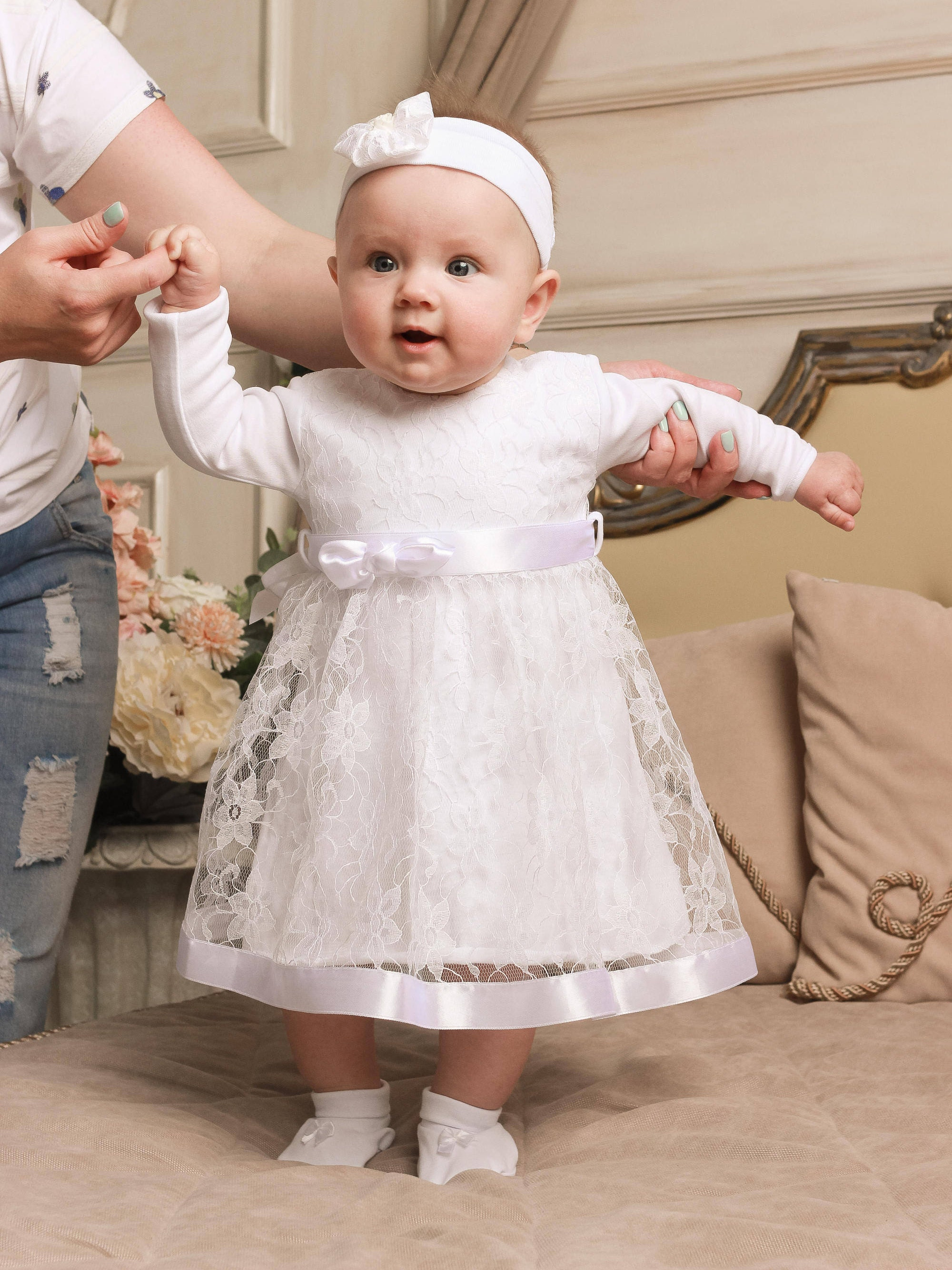 baptism dress for baby girl, christening dress, baptism gown, baby ...