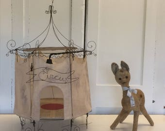 Antique French stuffed baby deer toy vintage toy brocante toy JDL French living