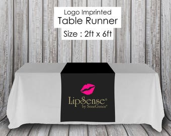 LipSense Table Runner for Independent Distributor - Quick Turnaround - LipSense Table Cloth - LipSense Table Sign - Popup Party