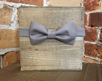 Slate Grey - Mens or Womens adjustable bowtie