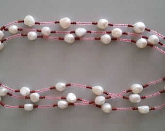 Baroque Pearl with Seed Bead Necklace
