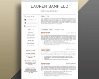 Resume Template Instant Download. Professional Resume Template. CV Template. Professional CV Template. Modern Resume Template. Modern CV.