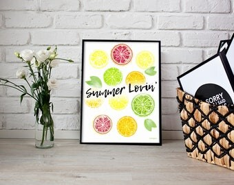 SUMMER LOVIN' | Home Decor Printable