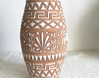 Handmade clay vase, Neofitou Pottery