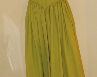 "Size small, vintage 1940's , acid green gown, 25"" waist"