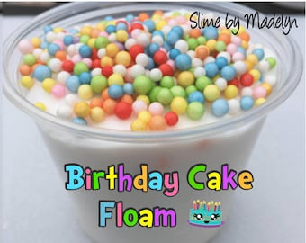 Birthday Cake Scented Floam ~ Scented Floam ~ Scented Slime