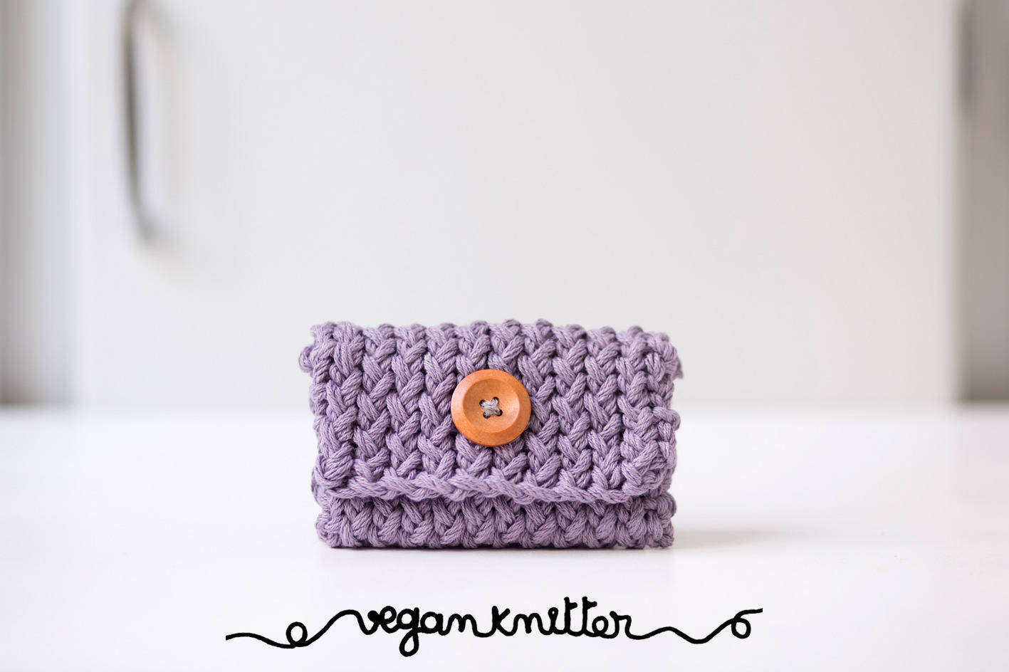 Wallet organic and vegan knitted case cards, business card case ...