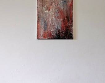 Abstract painting / Art / Acrylic painting / Red , Black , White