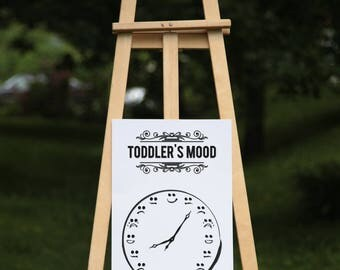 Toddler's mood - Black vinyl on poster paper (2 sizes offered, on paper or textured paper) - House decor