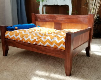 Pet Bed - All Wood Dog Bed / Cat Bed/ Pet Bed With Cushion Good For Puppy Bed or Kitty Bed - Pet Furniture from KCsComfyPets Made in the USA