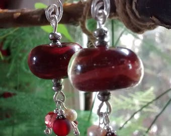 Handcrafted ** Valentine's-Borosilicate-Sterling Silver Earrings