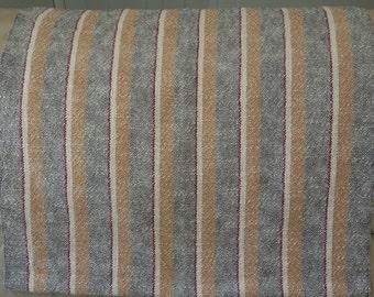 Handwoven Cotton Stripe Table Runner or Wrap