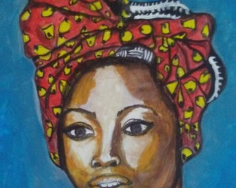Beautiful HAITIAN woman by Portland, OR artist Joseph Cardinal