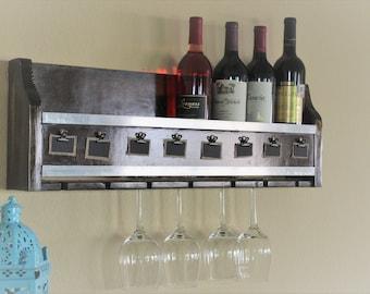 modern wall mounted wine rack
