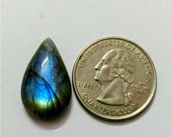 23.30 x 14.15 mm,Pear Shape/Tear Drop Labradorite Cobochon/ blue Flash/wire wrap stone/Super Shiny/Pendant Cabochon/Semi Precious Gemstone