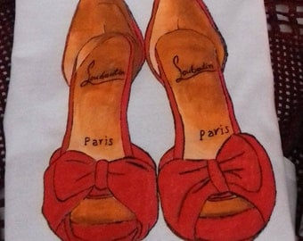 Handpainted T-Shirt - Louboutins