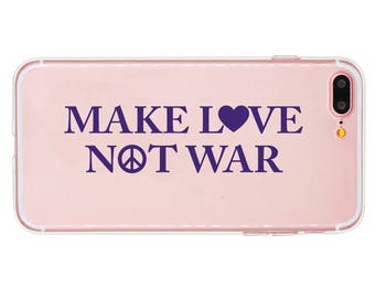 Make Love Not War Sticker, Make Love Not War Decal, Peace Decal, Peace Sticker, Car decal