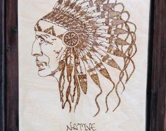 Pyrography Native Americans