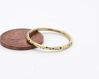Stacking Ring Brass  Dot Pattern