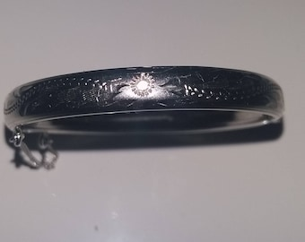 Sterling Silver Baby Bangle by Bond Boyd