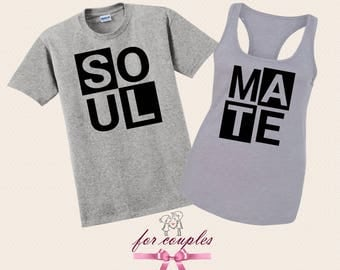 Soul Mate Couples Matching T-shirts, Soul Mate Unisex, His and Her Gift, Set Valentine's Day, Couple Gift Tees, V5
