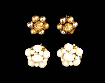 Set of Vintage 50's Cluster Earrings       LV0002