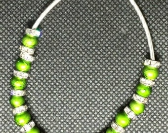 Green and Silver Crystal Bracelet