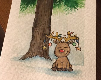 Animated Christmas watercolour cards
