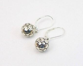Soccer Ball Earrings -  Soccer Player - Soccer Lover - Sports Gift - Dangle Earrings - Gift For Her
