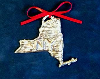 Pewter New York Ornament (NY)