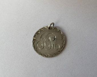 JR monogram love token pendant from 1857