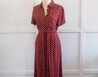 Vintage Jaeger co-ord set- blouse & skirt S